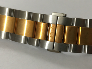 Image of MIDO 22mm Curved Lugs, 2/Tone Rose Gold Gents WATCH STRAP.