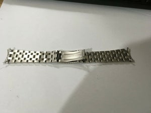 Image of RICOH 22MM STAINLESS STEEL GENTS WATCH STRAP,CURVED LUGS (RC-1)