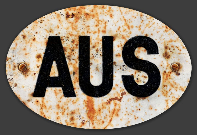 Image of Magnetic Australia 'AUS' Badge, Standard 180x120mm