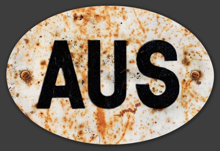 Image of Magnetic Australia 'AUS' Badge, Standard 180x120mm