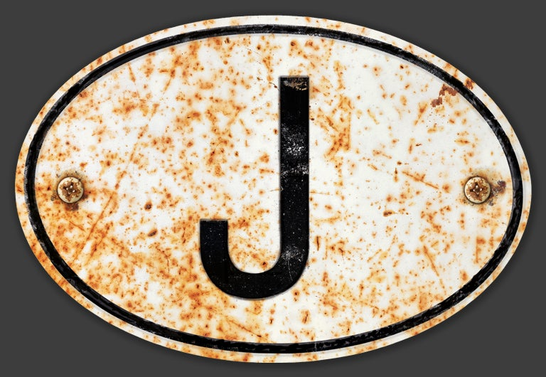 Image of Magnetic Japan 'J' Badge, Standard 180x120mm