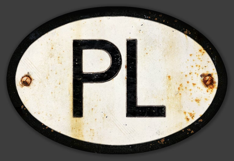 Image of Magnetic Poland 'PL' Badge, Standard 180x120mm