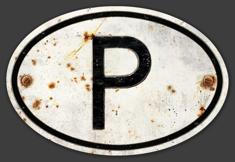 Image of Magnetic Portugal 'P' Badge, Standard 180x120mm