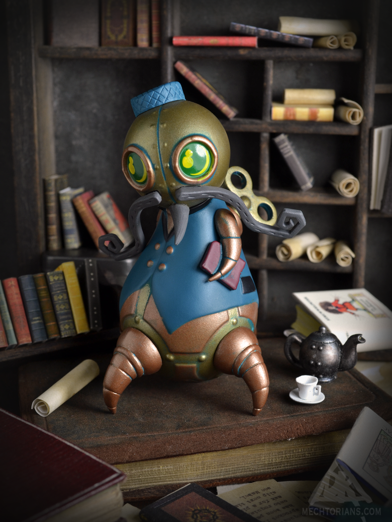 Image of Reginald Clawfoot - Mini Mechtorian vinyl figure *FREE SHIPPING*