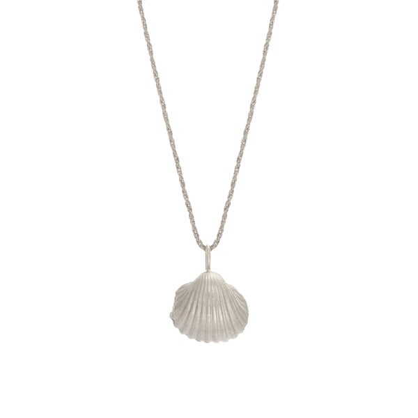 Image of Big Shell Necklace Silver