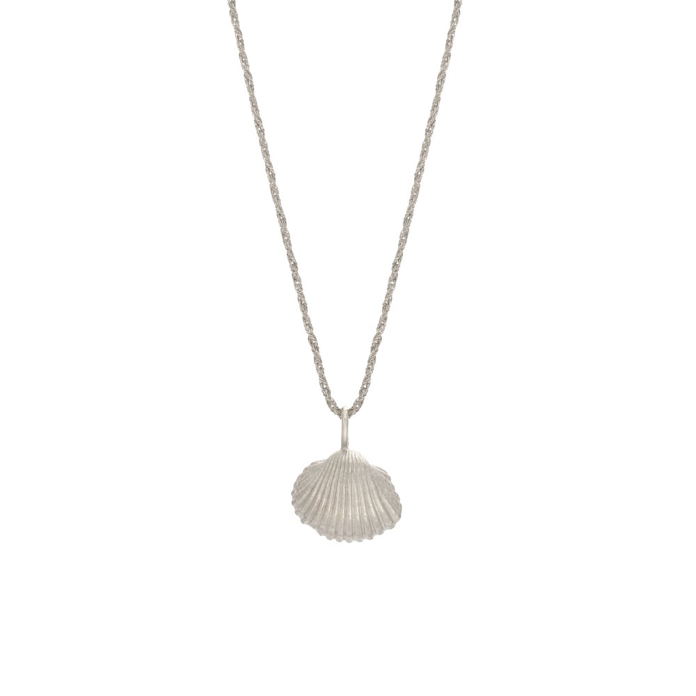 Image of Small Shell Necklace Silver