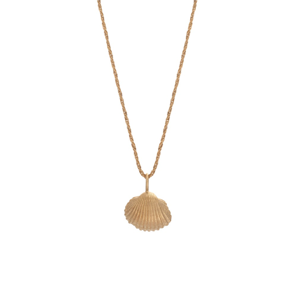 Image of Small Shell Necklace Gold