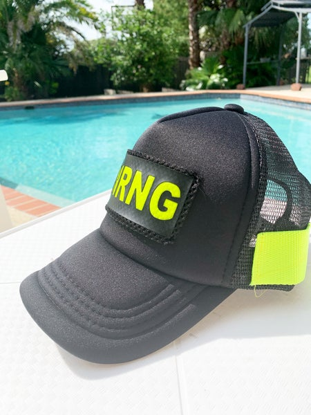 Image of Black and neon yellow logo cap