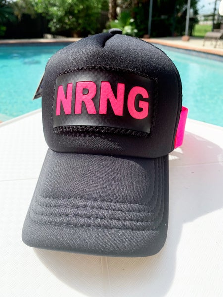 Image of Black and electric pink logo cap