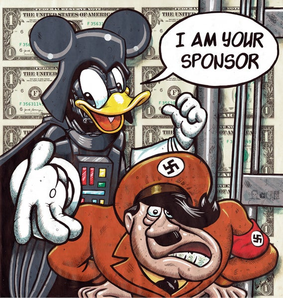 Image of Darth Donald 10 uncut dollars original