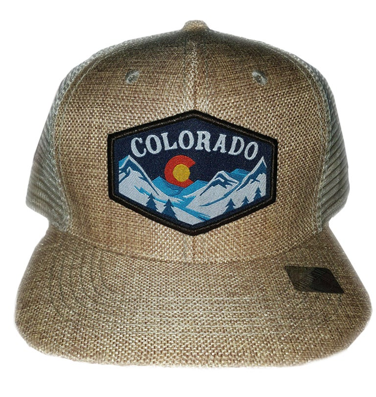 Image of NEW COLORADO STATE TAN MESHBACK SNAPBACK HAT