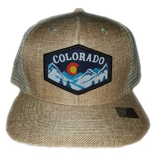 Image of NEW COLORADO STATE TAN SNAPBACK HAT WITH COLOR EMBROIDERED PATCH