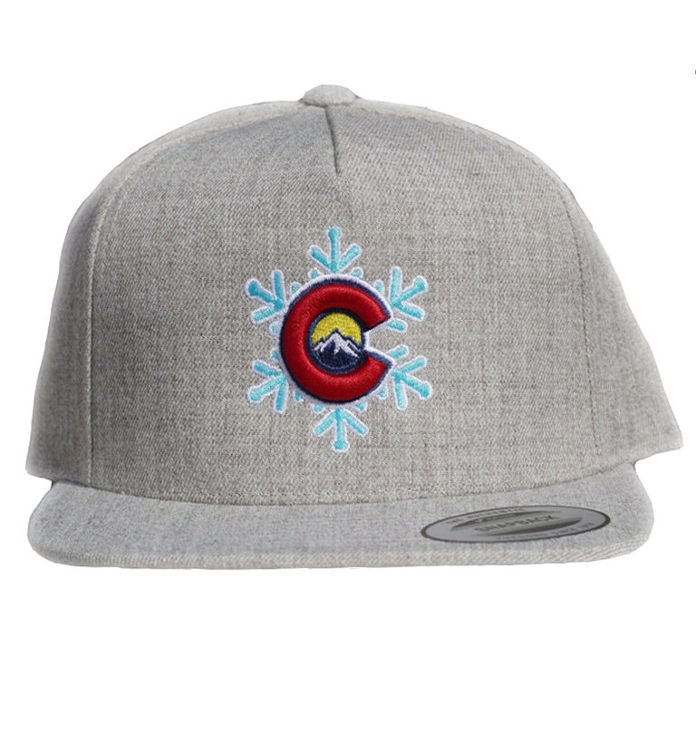 Image of New Limited Edition Colorado snowflake Snapback hat Grey