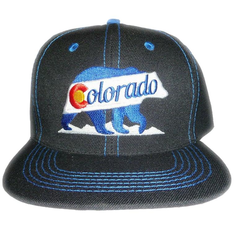 Image of COLORADO BLACK BEAR SNAP BACK HAT