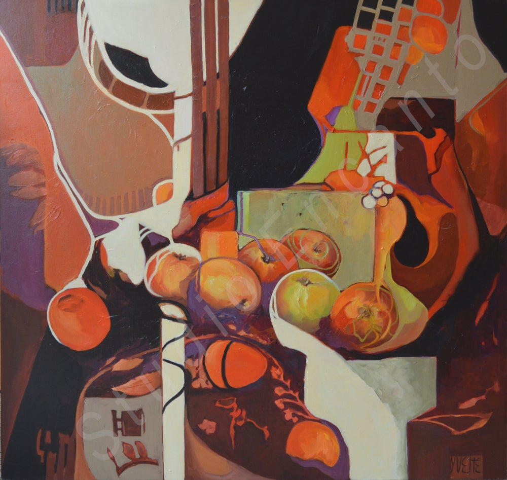 Image of Contemporary Apples by Yvette Galliher