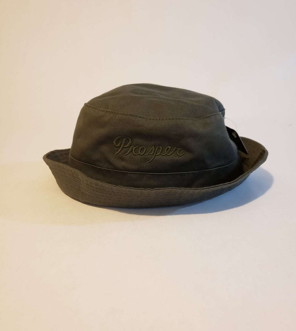 Image of Army green on green bucket hat.