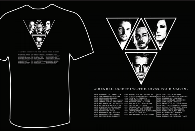"Image of T-shirt ""Grendel North American Tour 2019"""