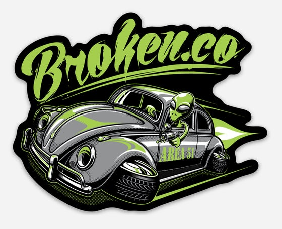 Image of Brokenco UFO Beetle sticker