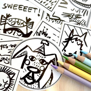 Image of Colour Me, Sticker Pack (20 stickers)