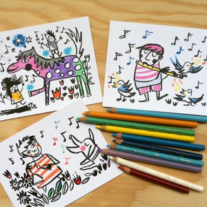 Image of Colouring Postcard Booklet (Music)