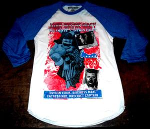 Image of JOHN WAYNE GACY Political Campaign Poster Baseball T-shirt