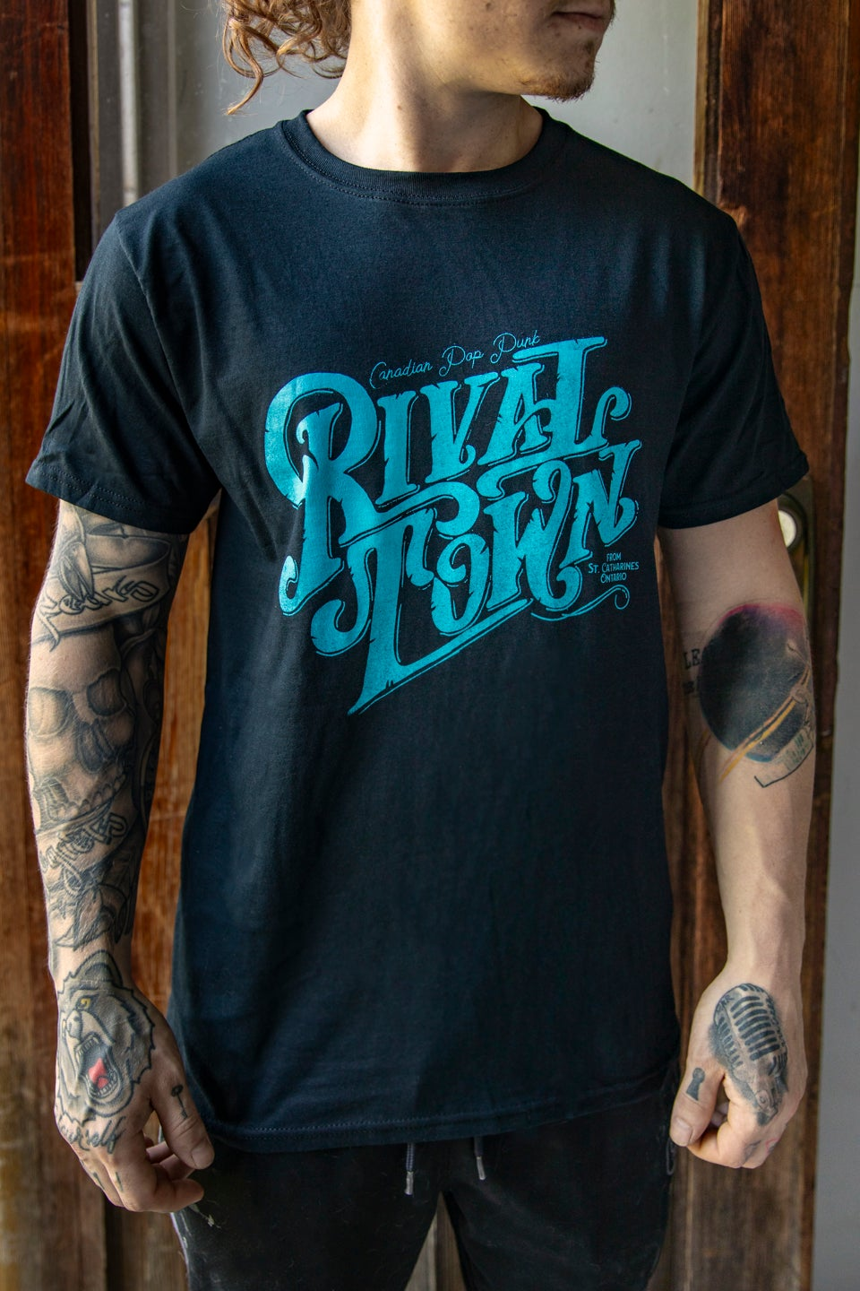 Image of Olde Time Rival Town T-Shirt (Black)