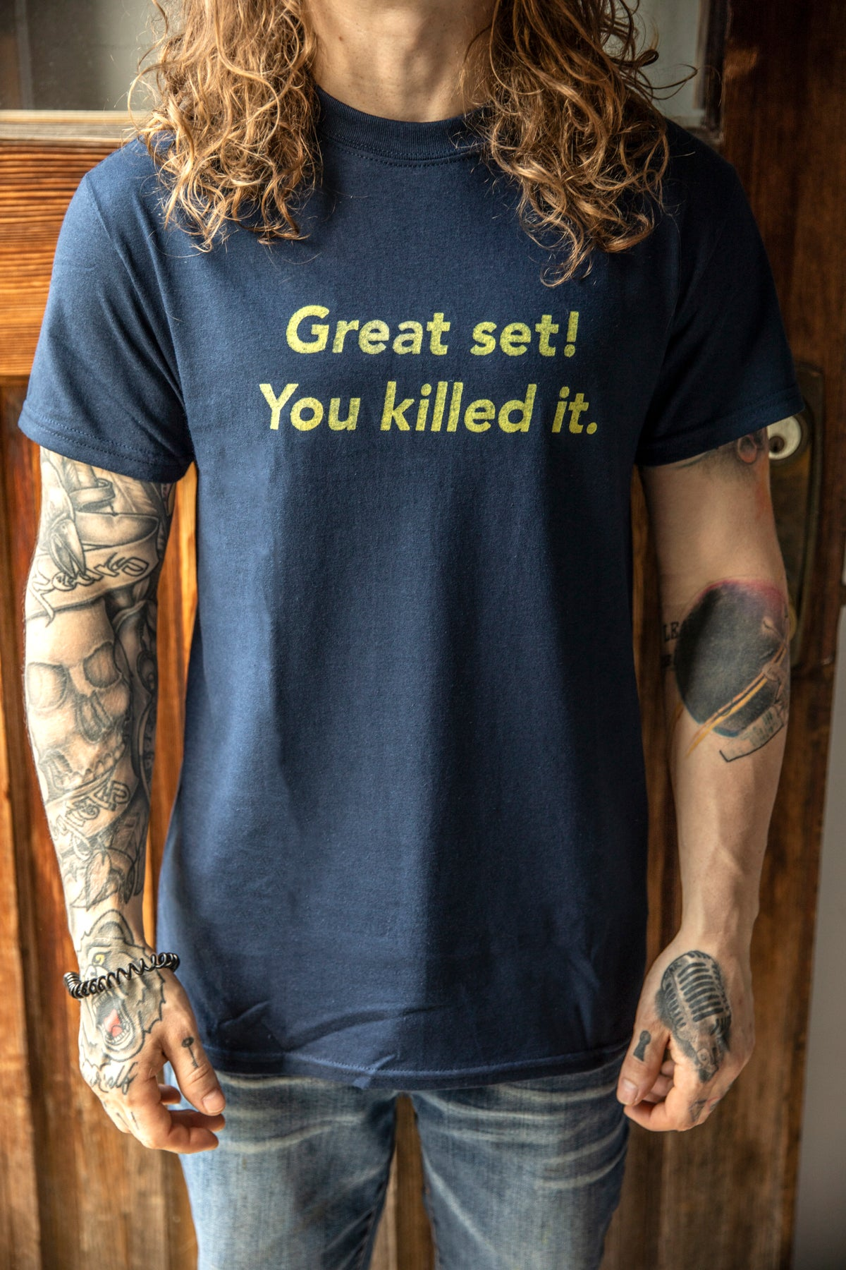 Image of Great Set T-Shirt (Blue-grey)