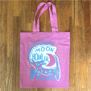 Image of Moon Howler Silkscreened Tote (TOTE ONLY!)