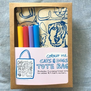 Image of Colour me Cats & Dogs Tote Kit with Markers