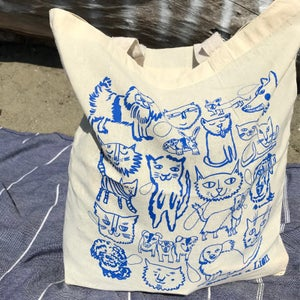 Image of Cats & Dogs Silkscreened Tote (TOTE ONLY)