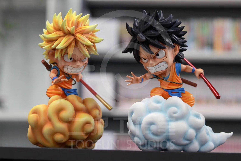 Image of [Pre-Order]One Piece Cross Dragon Ball Z Luffy Cross Goku(Lu Goku) Resin Statue