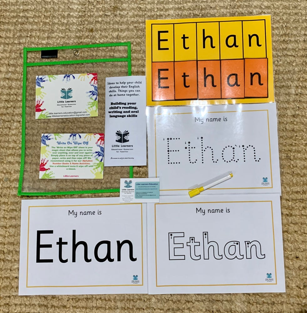 Image of Learning my name: Personalised Pack