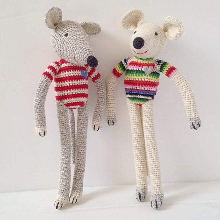 Image of Anne Claire Petit Hand Crochet Tall Mouse