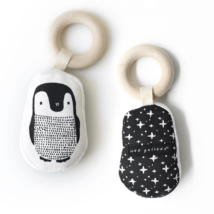 Image of Wee Gallery Organic Cotton Teething Ring