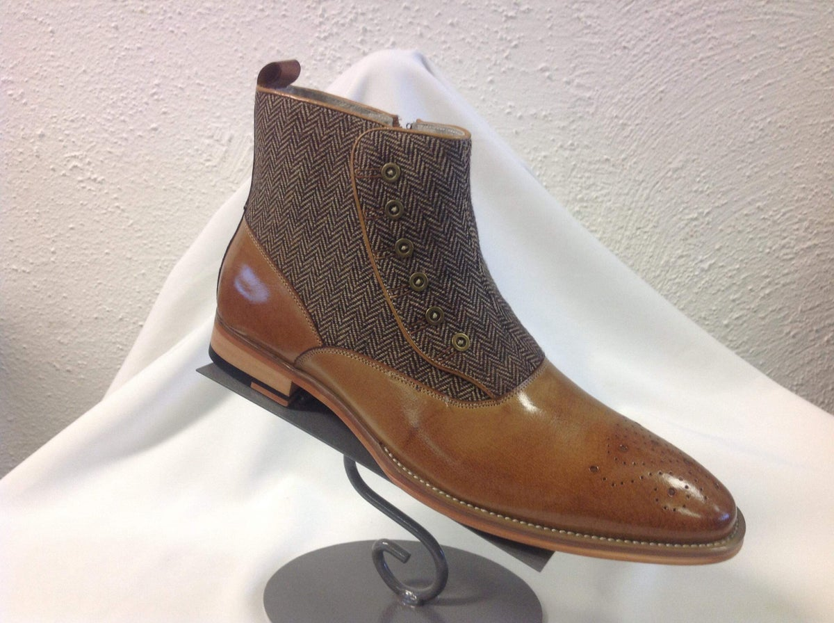 Image of Tweed Spat Boot by Giovanni