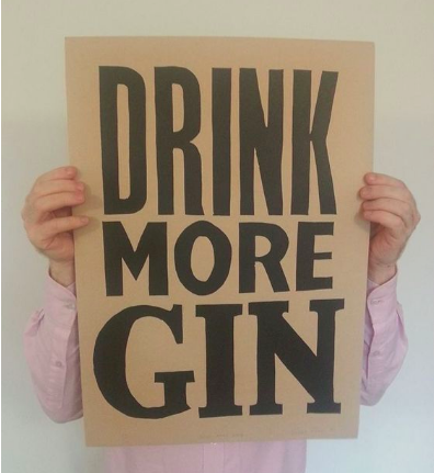 Image of Drink More Gin (Black)