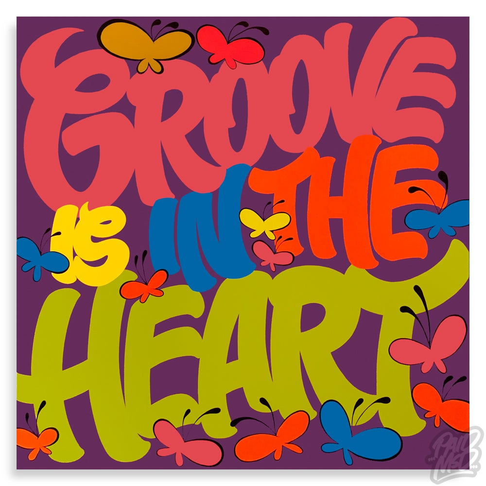 """Image of 40"""" x 40"""" - Groove is in the Heart"""