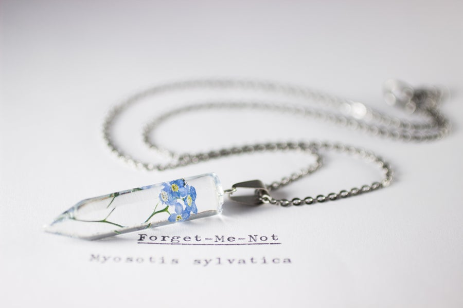 Image of Forget-Me-Not (Myosotis sylvatica) - Small Crystalline Necklace #2