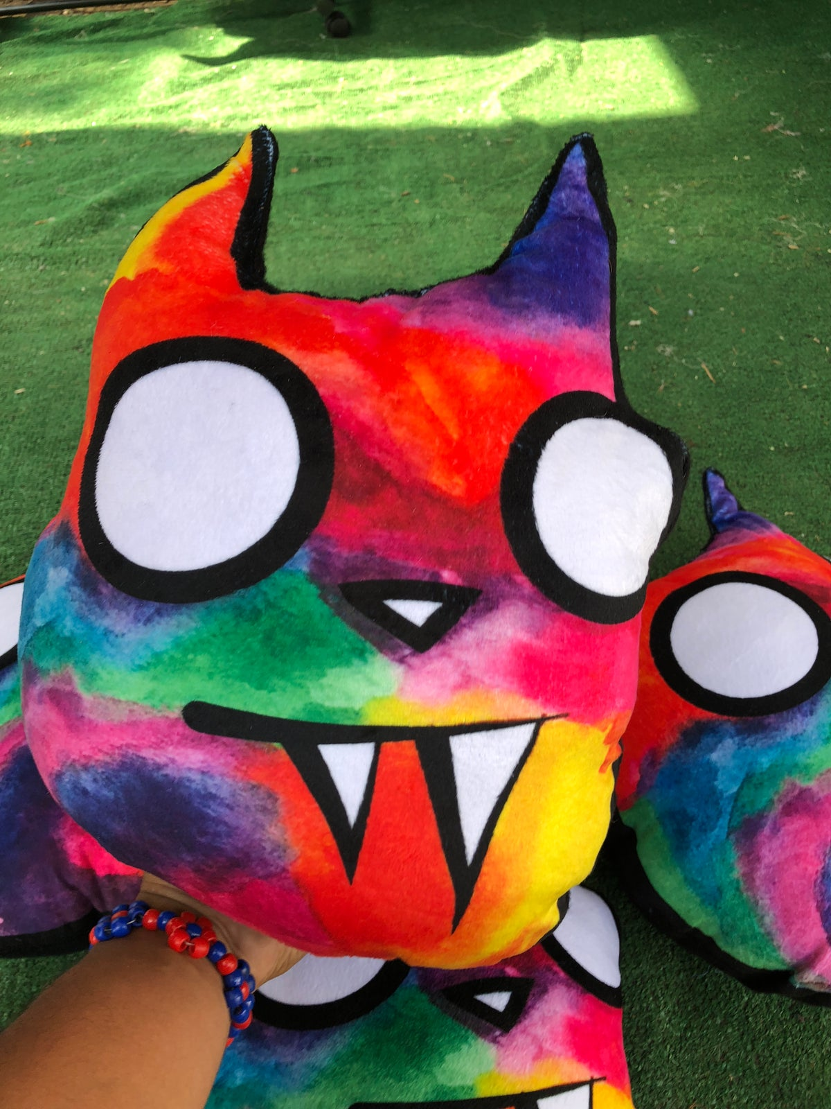 Image of Plush Watercolor Cat Pillows