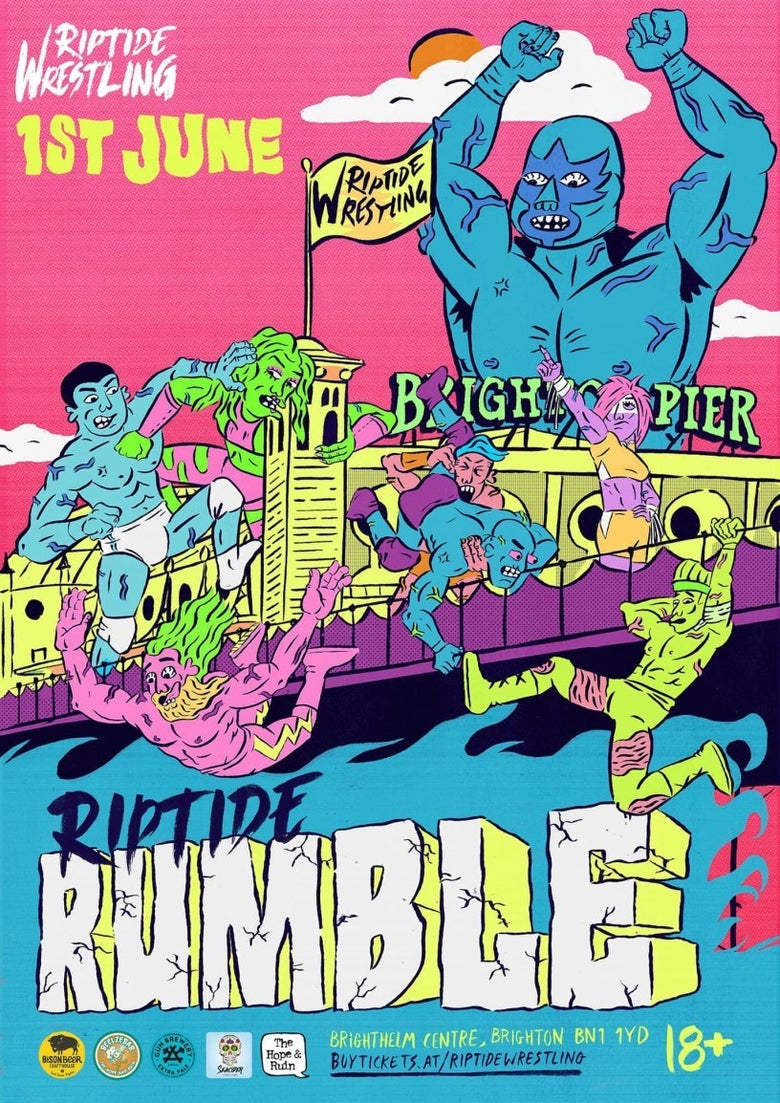 Image of RIPTIDE Rumble Poster (2018) - A2 Print