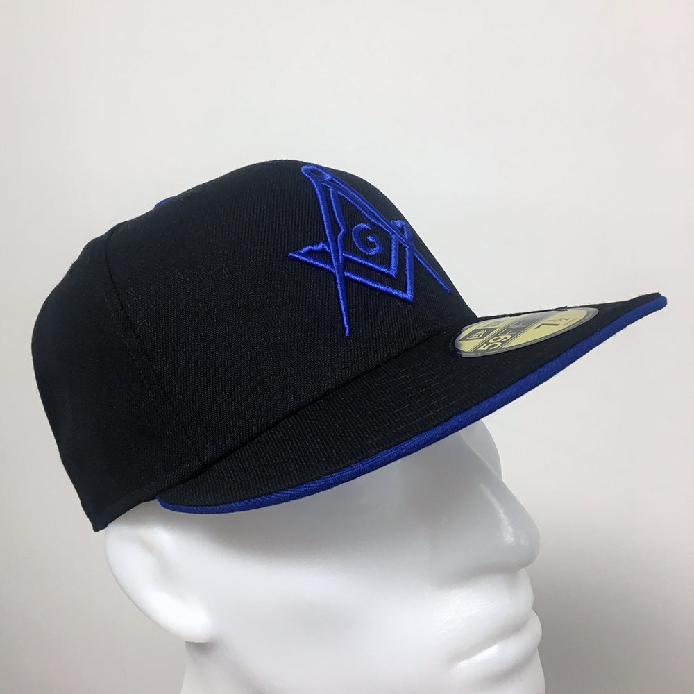 Image of NEW ERA 59FIFTY BLACK - ROYAL WITH G FITTED