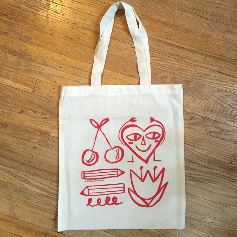 Image of Awesome Friends Silkscreened Tote (TOTE ONLY)
