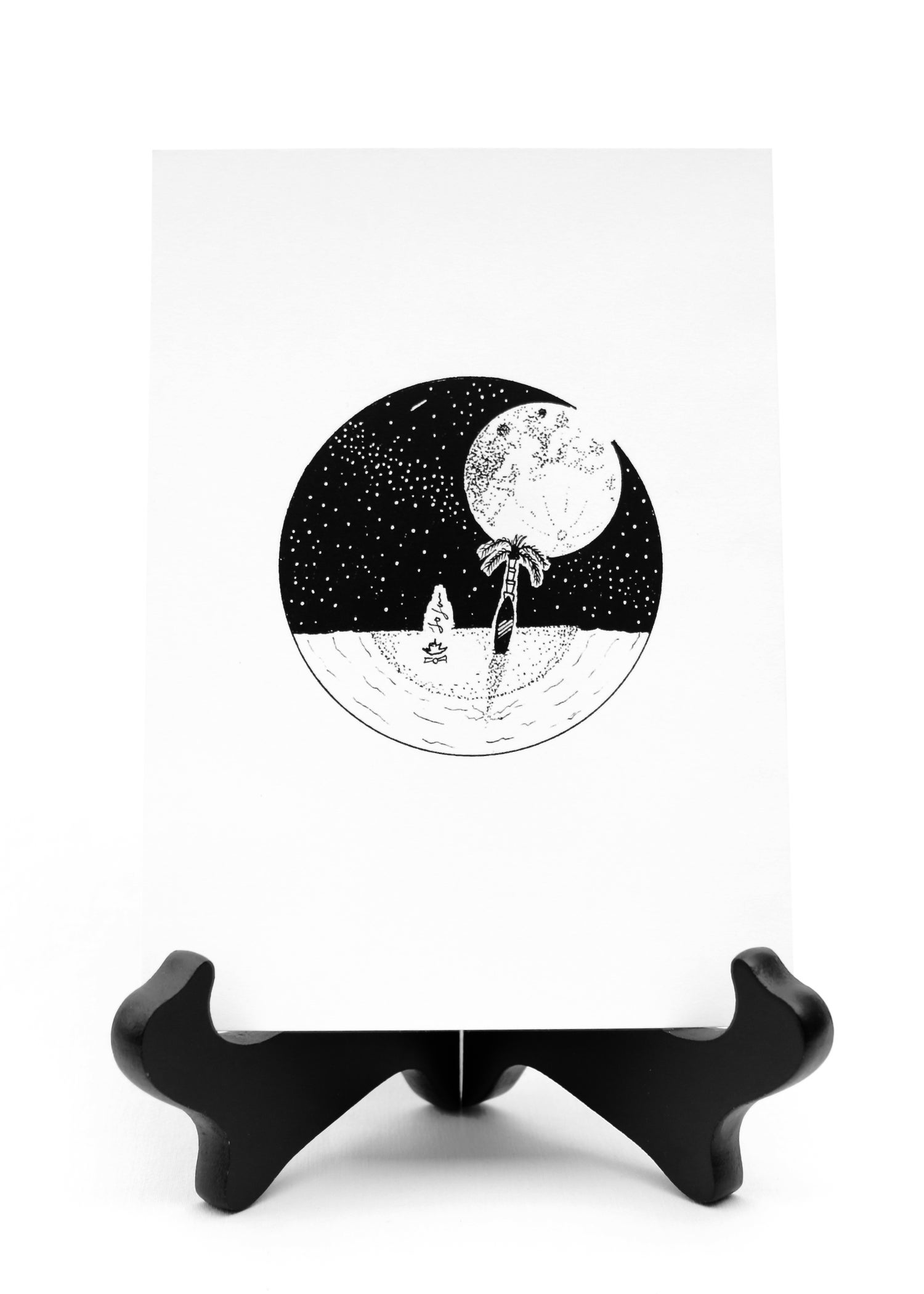Image of A Full Moon & My Surfboard
