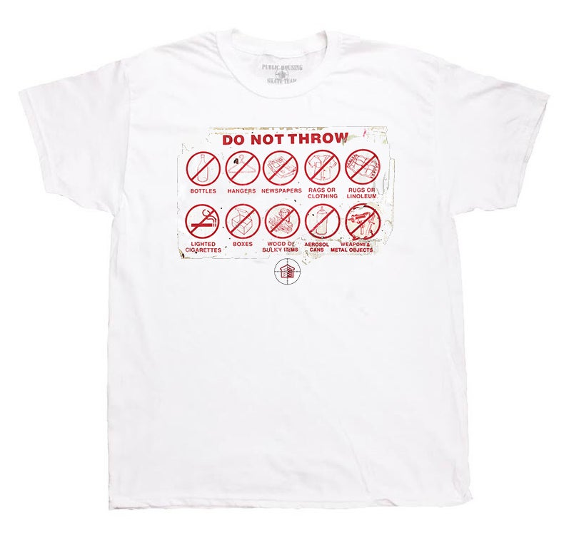 "Image of ""DO NOT THROW"" WHITE T-SHIRT"