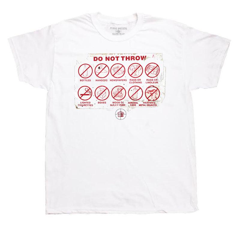 "Image of ""DO NOT THROW"" WHITE T-SHIRT"