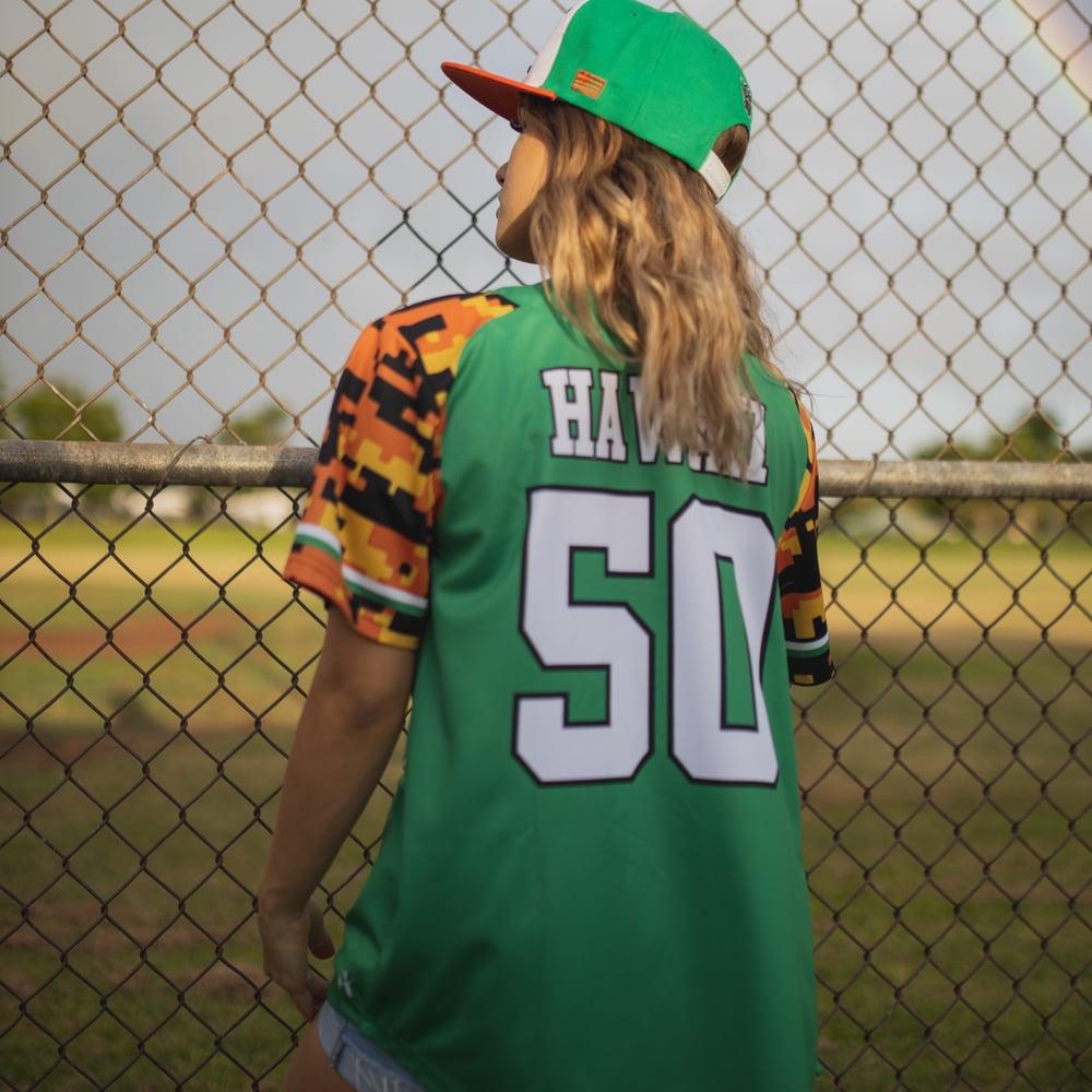 Image of Retro Hawaii Men's Baseball Jersey