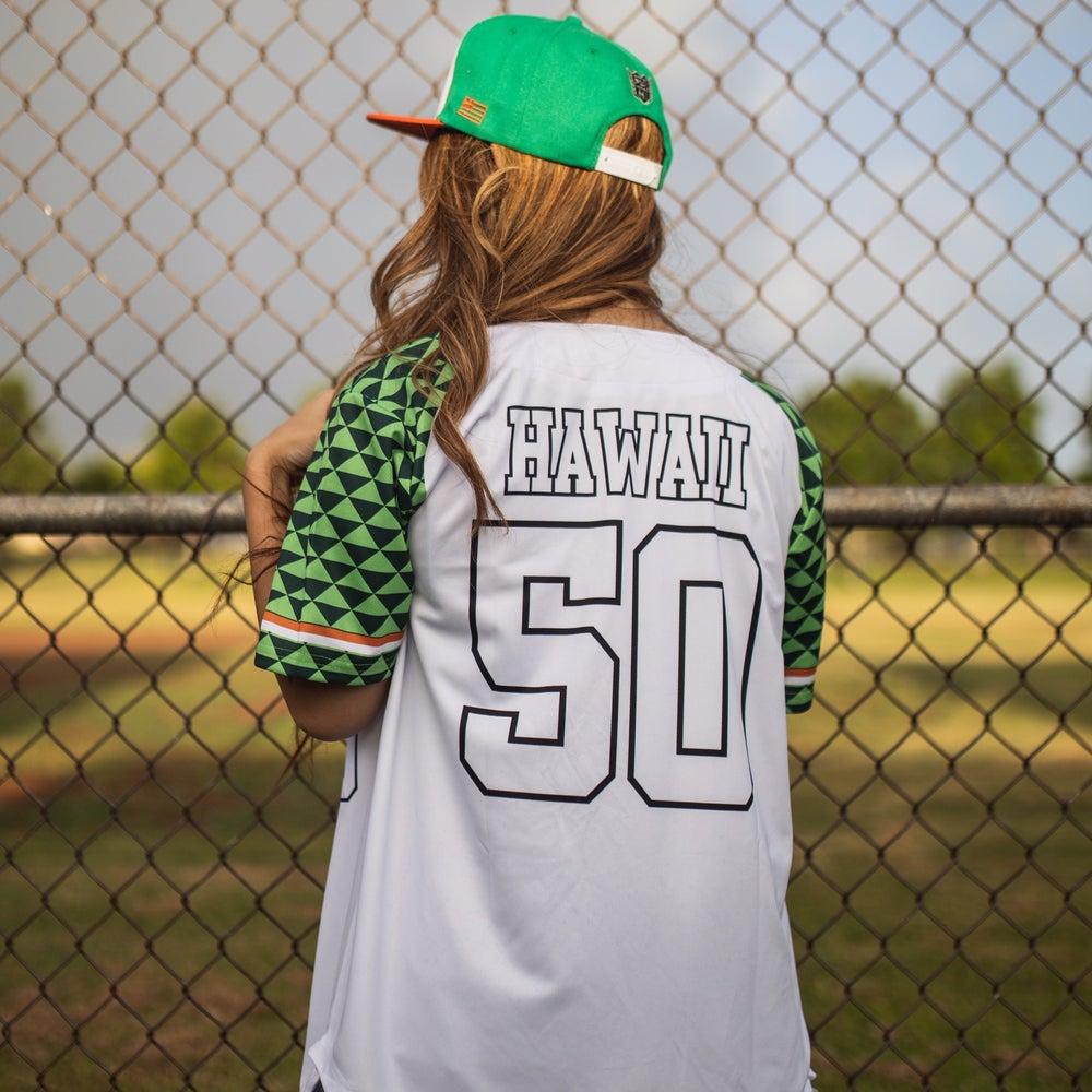 Image of RETRO HI Men's Baseball Jersey WHITE