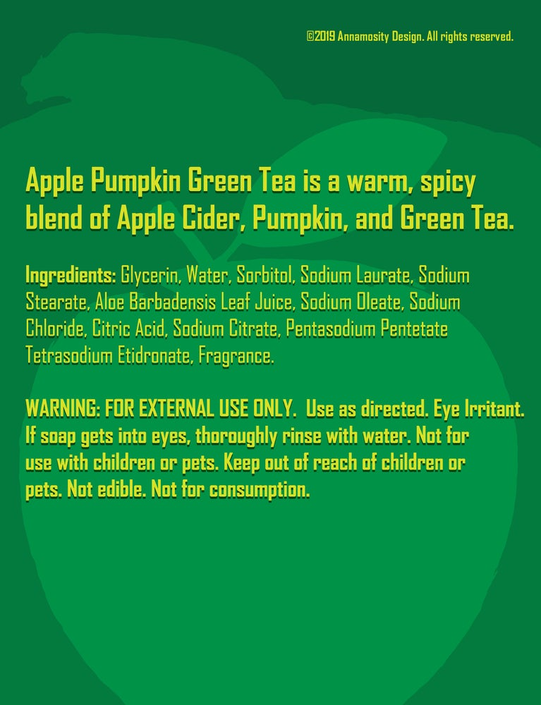 Image of Apple Pumpkin Green Tea - Soap Bar