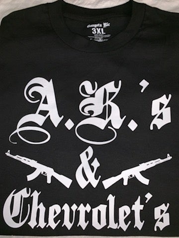 "Image of ""A.K.'s & Chevrolet's"" Mens T-Shirt S-4XL"
