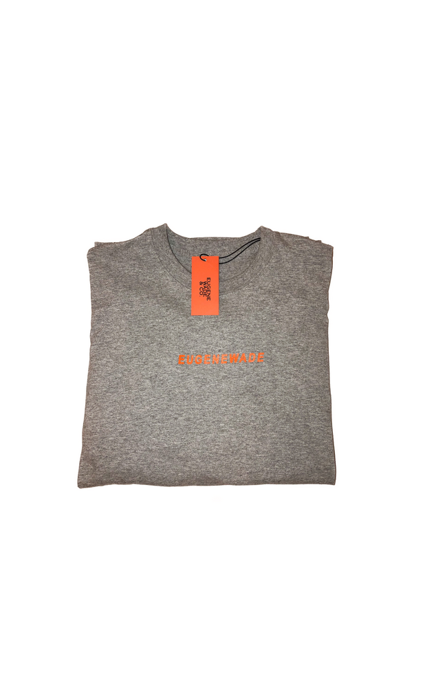 Image of NEON ORANGE LONG-SLEEVE (Grey)